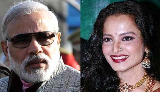 narendra modi and rekha