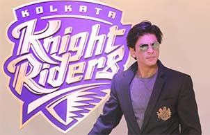 Shahrukh Khan with kkr