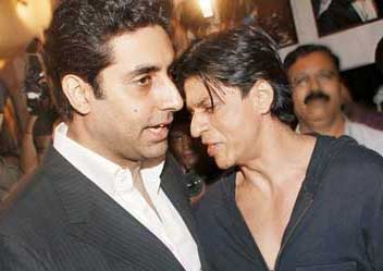 abhishek bachchan and shahrukh khan