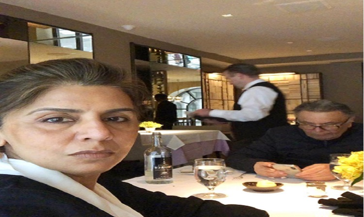 neetu kapoor shares a picture with rishi kapoor