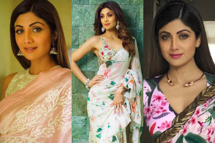 bb92adc3f1 Times When Shilpa Shetty's Saree Looks Where As Gorgeous As Her..