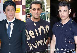 Shah Rukh, Salman and aamir khan