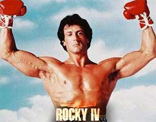 silver stallone in Rocky IV