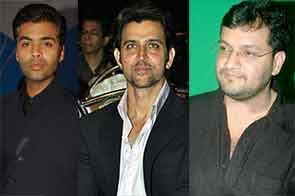 hrithik roshan, producer karan johar and director karan malhotra