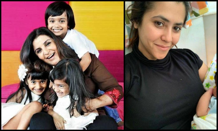 farah gives motherhood tips to ekta