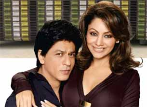 Shahrukh Khan and his wife gauri khan