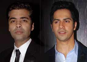 karan johar and varun dhawan