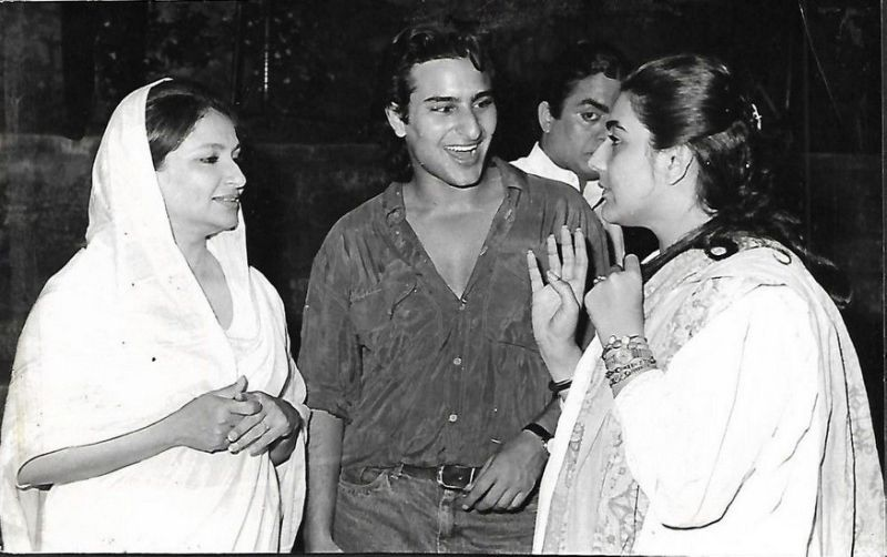 saif ali khan with former wife amrita singh and mother sharmila tagore