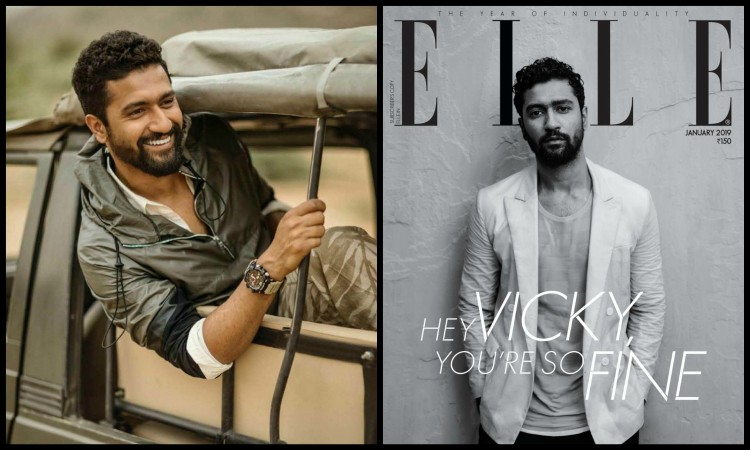 vicky become first young bollywood actor to pose solo foe elle india