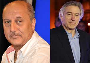 Hollywood star Robert De Niro and anupam kher