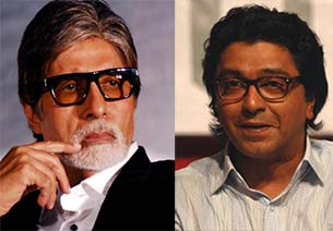 amitabh bachchan and Raj Thackeray