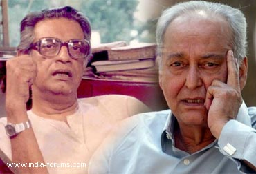 satyajit ray and Soumitra Chatterjee