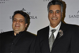 Designer duo designer abu jani and sandeep khosla