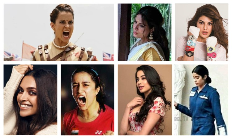 collage of 2019 women biopics
