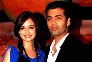 karan johar and dia mirza