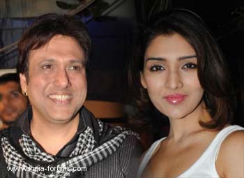 govinda and narmada ahuja walked as showstoppers for disigner Reymu Tandon's show