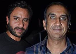 Filmmaker Milan Luthria and saif ali khan