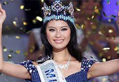 Miss China WenXia Yu Wins the 2012 Miss World Crown