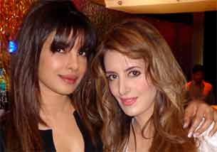 Fashion designer Pria Kataria Puri and priyanka chopra