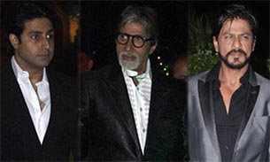 amitabh-abhishek and shah rukh khan