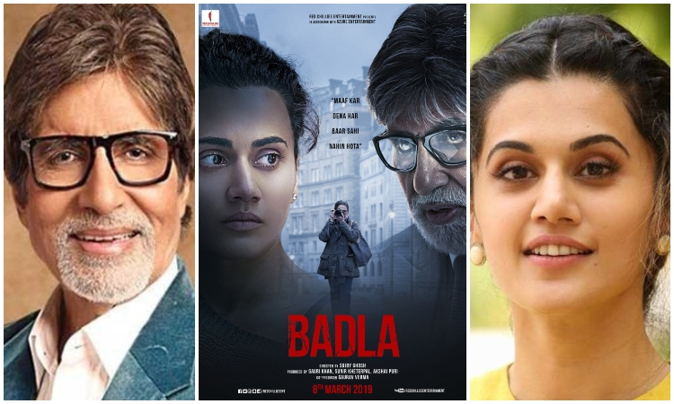 taapsee and amitabh in badla 2019