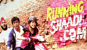 running Shaadi.com movie poster