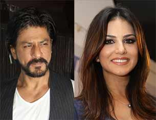Sunny leone and Shahrukh Khan