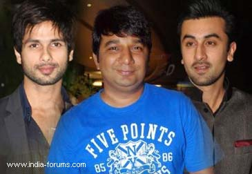 shahid kapoor choreographer ahmed khan and ranbir kapoor