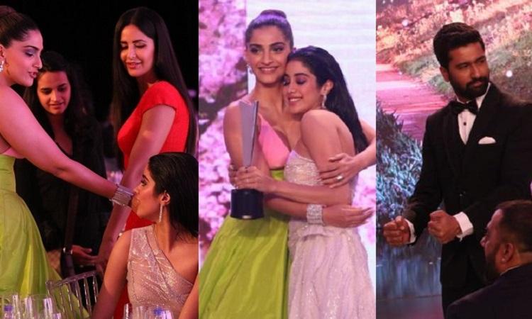 katrina, sonam, janhvi, vicky at hello hall of fame awards