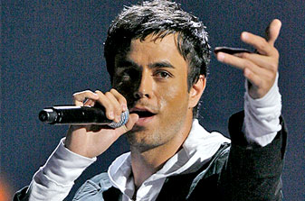 International Spanish pop star Enrique Iglesias