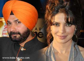 cricketer Navjot Singh Sidhu and priyanka chopra