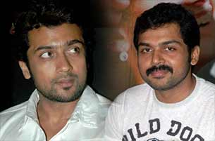 Tamil actor suriya and Karthi