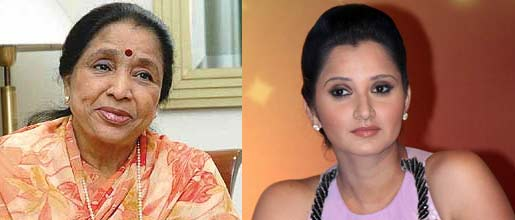 Asha bhosle and Sania Mirza