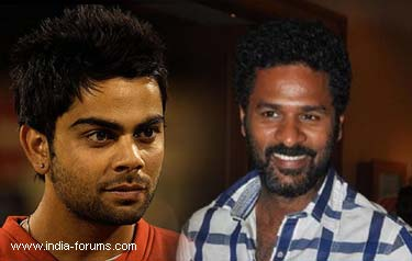 prabhu deva shoots ad film with virat kohli