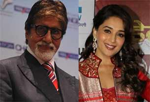 madhuri dixit and amitabh