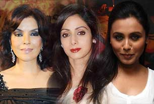 Sridevi, rani mukherjee and zeenat aman
