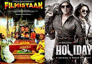 filmistaan and Holiday movie poster