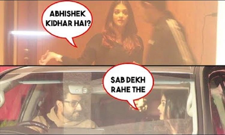 aishwarya loses cool on abhishek