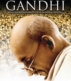 Richard Attenborough in & as Gandhi