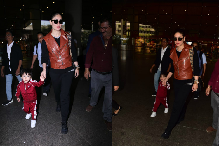 Kareena kapoor taimur ali khan slay at the airport