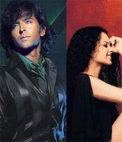 Hritik and Kangna in the movie Kites