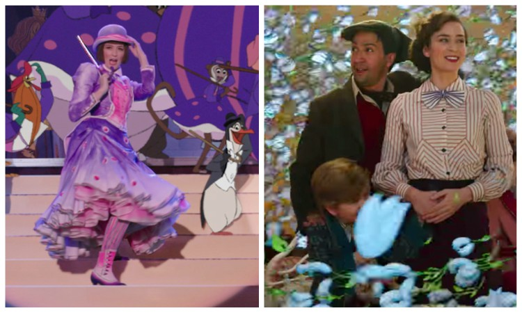 collage of the songs of mary poppins return