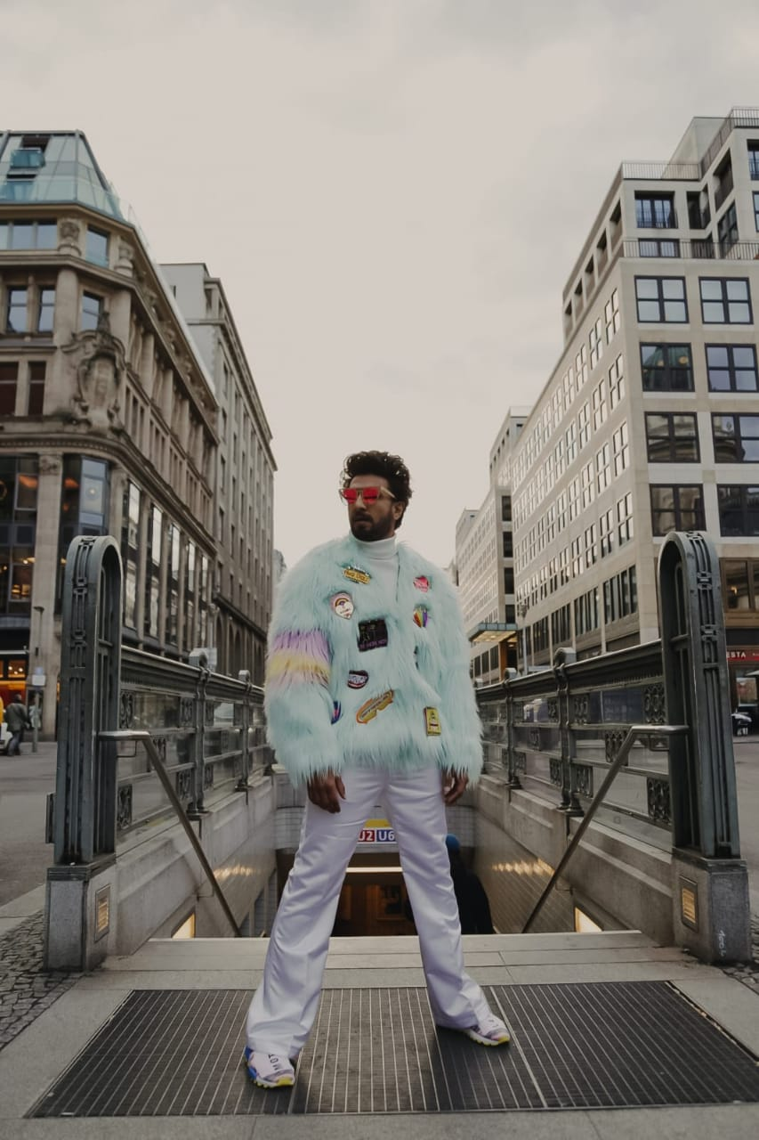 ranveer singh feather jacket takes berlin by storm