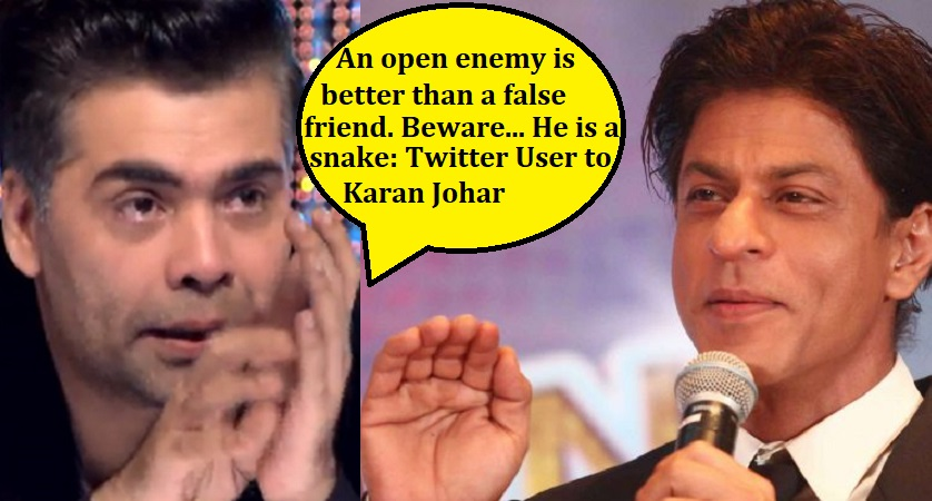 shah rukh khan reacts to karan johar tweet act