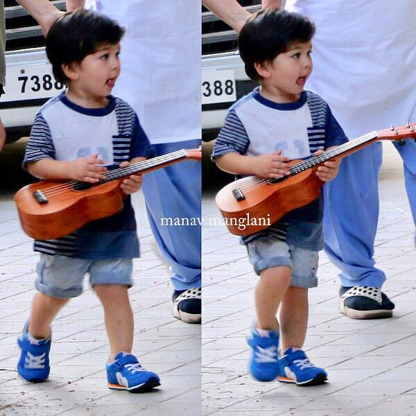 taimur with his guitar pic