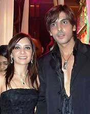 Zayed Khan and his wife
