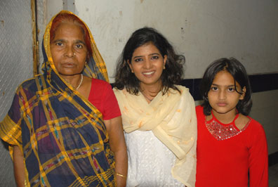 Poonam and her family