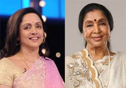 hema malini and asha bhosle