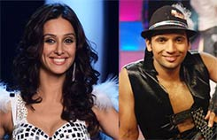 shibani dandekar and her choreographer Punit Pathak