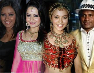 dancing expert isha sharvani, sanath jayasuriya, pratyusha banerjee and giaa manek